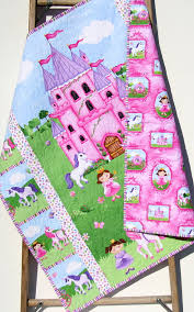 princess baby quilt castle unicorn carriage bedding blanket