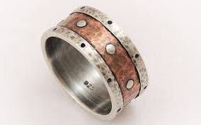 Anniversary Gifts For Men Engagement - mens wedding band silver copper ring mens engagement ring mens