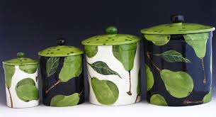 kitchen flour canisters pottery canisters canister set flour canister sugar canister