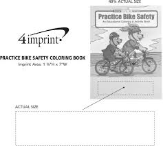 practice bike safety coloring book item no 1034 bs from only