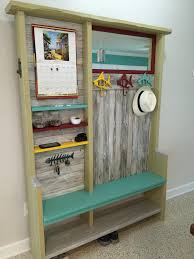 Turquoise Entry Table by Entryway Hall Tree With Mirror Calendar Phone Charging Station