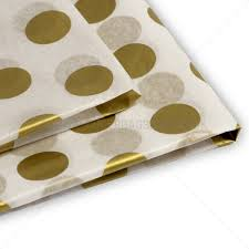 gold polka dot tissue paper gold dots design tissue paper from carrier bag shop