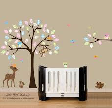 Removable Nursery Wall Decals Baby Nursery Decor Brown Wallpaper Removable Wall Decals For Baby