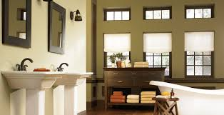 what color goes with brown bathroom cabinets casual bathroom ideas and inspirational paint colors behr