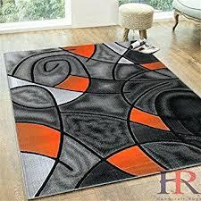 Orange Modern Rug Orange Area Rug Rug Rust Orange Area Rug With White Swirls