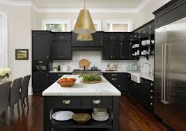 kitchen with black island and white cabinets kitchens with black cabinets