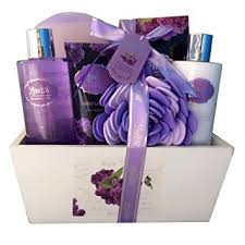spa baskets spa gift basket spa basket with lavender fragrance