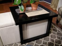 Ottoman Coffee Table Build A Coffee Table To Fit Storage Ottomans Hgtv