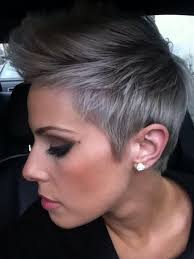 pictures of womens short dark hair with grey streaks 14 trendy grey short hair styles hairstyle center