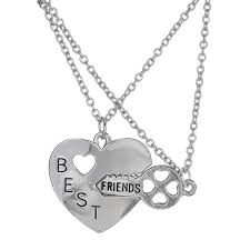 Engravable Heart Necklace Aliexpress Com Buy Personalized Heart Puzzle Necklace Silver