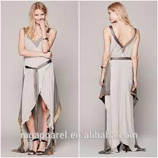 Draped Gown Beautiful Lady Fashion Dress Women Clothing Silk Chiffon Draped
