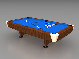 Free Pool Tables Blue Pool Table 3d Model 3ds Max Files Free Download Modeling
