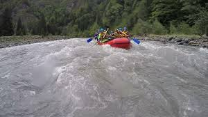 Water Challenge Dangerous Experienced Rafting Team Meeting Dangerous Challenge Of Nature