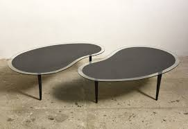 Boomerang Coffee Table Kidney Boomerang Coffee Tables With Glass Top 1960s 73177