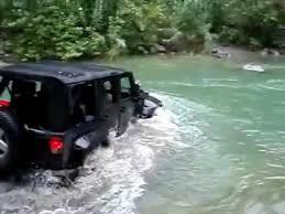 jeep snorkel underwater jeep wrangler river crossing youtube