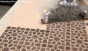Diy Area Rug How To Stencil Custom Diy Area Rug With Chalk Paint Fabric
