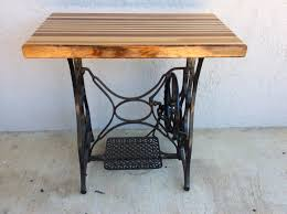 refurbished 1920s new home sewing machine butcher block table on img 0113 small