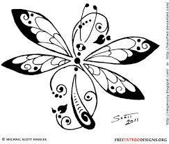 unique tribal dragonfly tattoo design