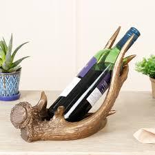 antler wine rack stag antler wine bottle holder