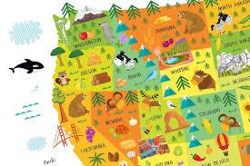 map usa and states usa map for playroom decor nursery classroom decor