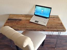 Modern Metal Desks by Reclaimed Wood Modern Steel Hairpin Leg Desk Work Table Laptop