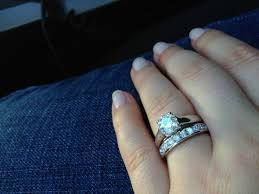 solitaire engagement ring with wedding band show me your solitaire rings with an eternity wedding band