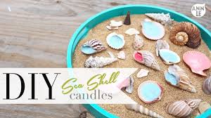 diy sea shell candle summer home decor ann le youtube