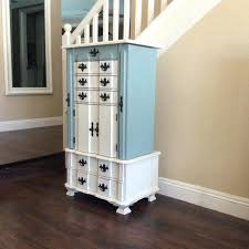 Shabby Chic Jewelry Armoire by Corner Entertainment Armoire Large Floor Standing 8 Drawer Wooden