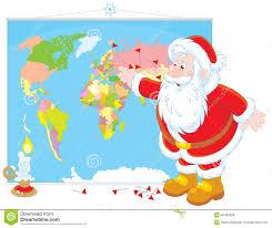 santa map santa claus with a map stock vector image 46460209