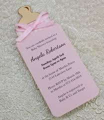 unique baby shower invitations diy bottle baby shower invitation template for baby girl from