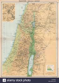 Biblical Map Palestine U0026 Jerusalem Biblical And Ancient Place Names Relief