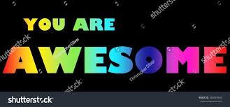 Antonym For Volunteer Word You Awsome Colorful Letters Stock Illustration 484623643