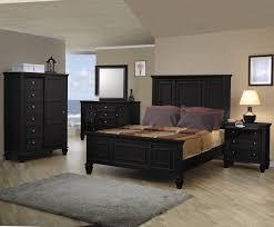 beach 4 piece black queen panel bedroom set black