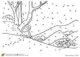 Coloriage Paysage Hiver Maternelle  Artemiaorg
