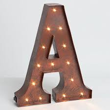 metal letters rustic metal letters lighted collaborate decors rustic metal