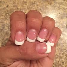 gel french tip pink u0026 white on my natural nails yelp
