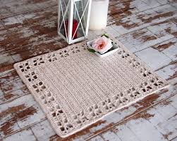 crochet pattern table placemat table runner home decor table this is a digital file