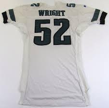 sylvester wright lot detail 1995 96 sylvester wright gu philadelphia eagles jersey