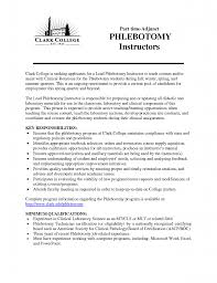 Phlebotomist Job Description Resume by New Phlebotomist Resume Free Resume Example And Writing Download