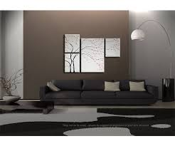 original home decor unique original painting black and white wall art cherry blossom