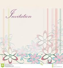 Party Invite Cards Wedding Invitation Template Party Card Design With Flowers