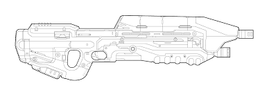 drawn rifle halo pencil color drawn rifle halo