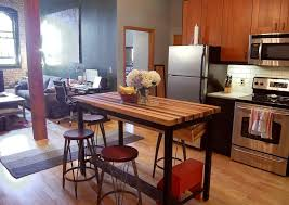 butcher block table top red wood kitchen island rectangular red