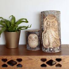 wooden owl garden ornaments ebay