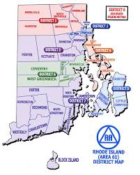 map rhode island area 61 district map alcoholics anonymous in rhode island