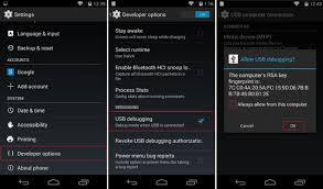 debugging android to enable usb debugging on android