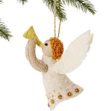 angel felt holiday ornament handmade and fair trade u2013 global