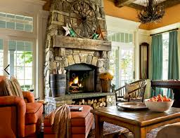 rustic stone fireplaces 15 fall decor ideas for your fireplace mantle