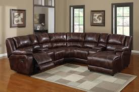 furniture exquisite modern brown leather reclining sectional