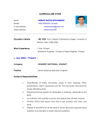Electrical Project Engineer Resume Sample Cv Electrical Estimation Engineer